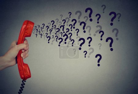 too many questions over the phone
