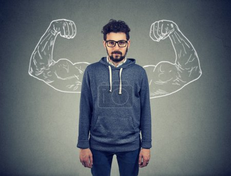 Photo for Strong confident young man hipster - Royalty Free Image