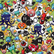 Various cartoon characters background