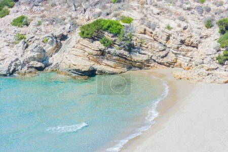Beach deserted isolated.
