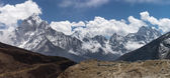 Berglandschaft von Thukla Dorf, Everest region