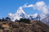Ama Dablam mountain peak in clearly day, Everest region, Nepal