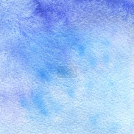 blue watercolor painting