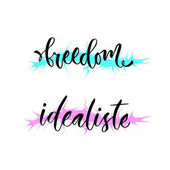 Freedom and idealiste T-shirt print