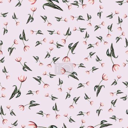 Liliya flowers Seamless pattern