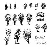 graphic tree set
