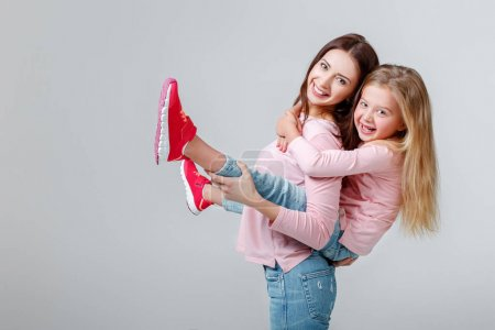 Photo for Happy mother and daughter having fun together - Royalty Free Image