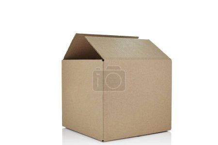 Photo for Opened cardboard box isolated on white background - Royalty Free Image