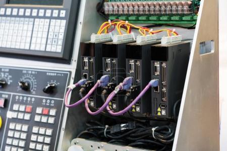 Photo pour Haute technologie contrôle de Machine industrielle de commande logique de programmation Plc pour la fabrication, l'ordinateur de l'automate, automate programmable logic controler, - image libre de droit