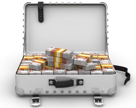 Suitcase full of Russian money