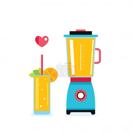 Blender and fresh smoothie