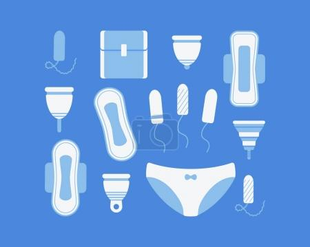 Intimate hygiene icons set