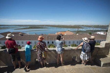 Ria Formosa Landscape in the city centre at the Lago de Se