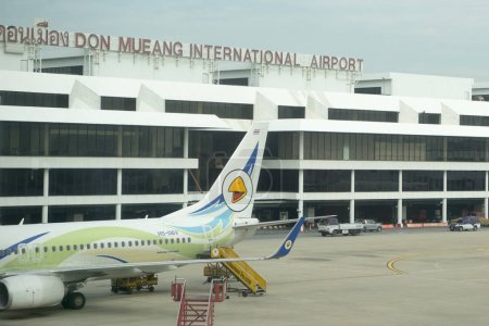 Airplane at the Don Mueang Airport in the city of Udon Thani