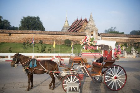 A horse carriage in North Thailand