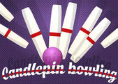 Candlepin bowling color vector illustration