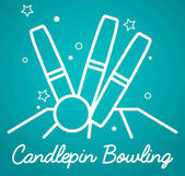 Candlepin bowling simple vector illustration