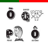 Portuguese alphabet Fish cheese The letters and characters