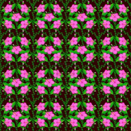 Illustration for Color seamless floral vector pattern - Royalty Free Image