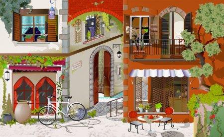 Photo pour Dessin à la main sur l'ordinateur pour la peinture. façade accueillante, image de la façade - image libre de droit