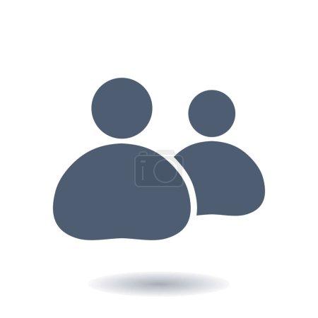 Photo pour Personnes ou l'icône de signe social. Le leader et son disciple. - image libre de droit