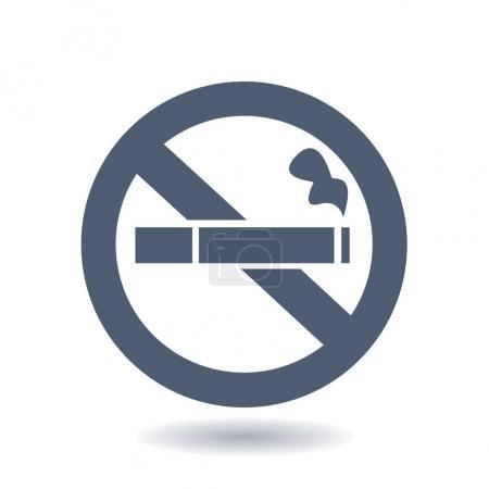 Photo pour Aucune icône de fumée. Arrêter le symbole de fumer. Illustration vectorielle. Tubes à cigarettes. Icône pour lieux publics. - image libre de droit