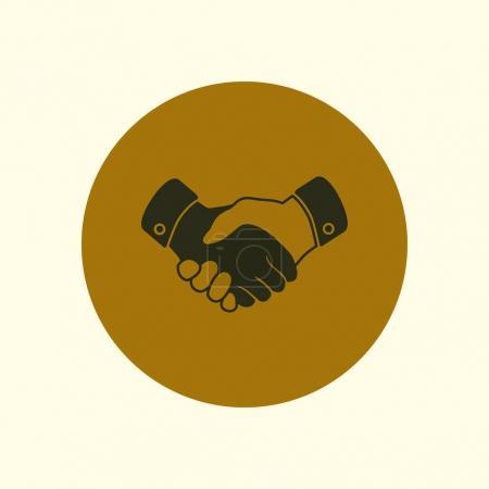 Photo pour Poignée de main signe icône. Symbole d'entreprise réussi. Style design plat . - image libre de droit