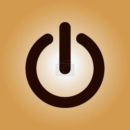 Photo for Power sign icon. Power button. Close application. Flat design style. - Royalty Free Image