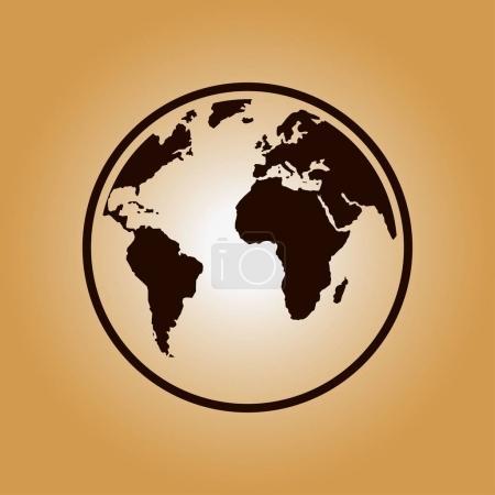 Photo pour Icône de globe. Voyage sur la planète terre. Voyage autour du monde. - image libre de droit