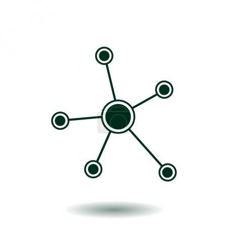 Photo pour Réseau social icône unique. Technologie globale. Le réseau de connexions sociales dans l'entreprise . - image libre de droit