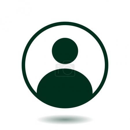 Photo pour Marque de connexion. Icône de signe utilisateur. Symbole de personne. Avatar humain.Style plat . - image libre de droit