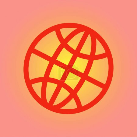Globe icon. Flat design style Earth vector icons....