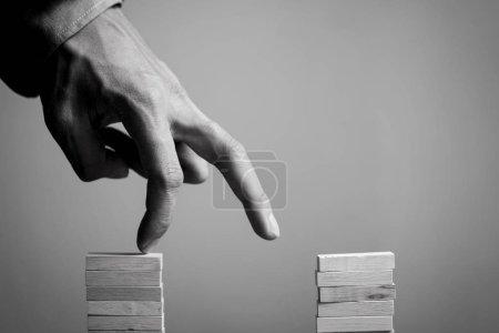 Hand liken business person