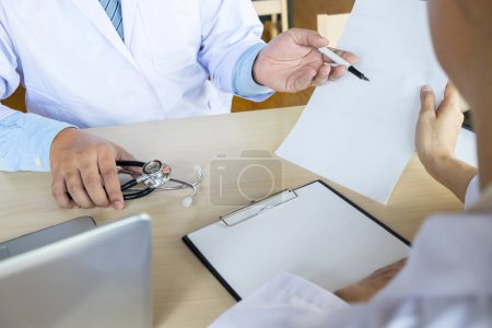 Doctor showing prescription
