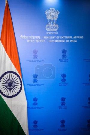 Photo pour New Delhi / Inde - 1er octobre 2019 : Ministère des affaires extérieures du Gouvernement indien - image libre de droit