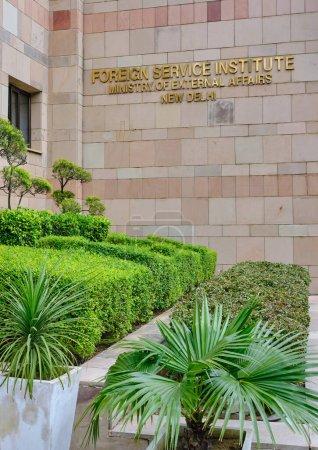 Photo pour New Delhi / Inde - 20 septembre 2019 : L'Institut du service extérieur (FSI) du Ministère des affaires étrangères de l'Inde est l'institut de New Delhi où les agents du service extérieur sont formés. - image libre de droit