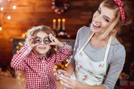 Family preparation holiday food