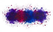 Abstract artistic watercolor splash of paint background, the deep ocean
