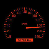 Vector car speedometer dial High speed concept
