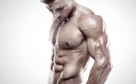 Muscular bodybuilder guy