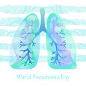 World Pneumonia Day Human lungs Medical illustration Health care vector illustration Lungs icon Human lungs vector icon