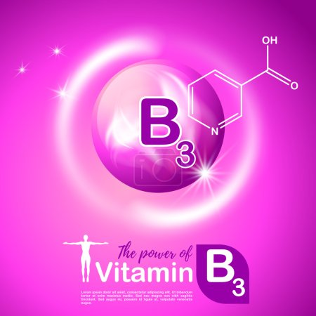 Nutrition sign vector concept. The power of vitami...