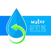 Water recycling icon Purified water symbol Recycle water drop