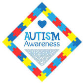 World autism awareness day Colorful puzzles vector background Symbol of autism Medical flat illustration Health care