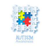 World autism awareness day Colorful puzzle vector design sign Symbol of autism Medical flat illustration Health care