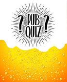 Pub quiz Beer background Quiz night announcement poster design web banner background vector illustration Modern pub team game Questions game