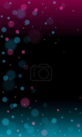 Futuristic blue red gradient vector black backgrou...