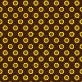 seamless sunflower pattern on brown background