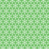 Snowflake pattern on green vector