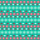 Turquoise red christmas stripe